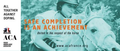 """""""Safe completion is an achievement"""":  The French Arabian Horse Society is taking a stand against endurance horse doping."""