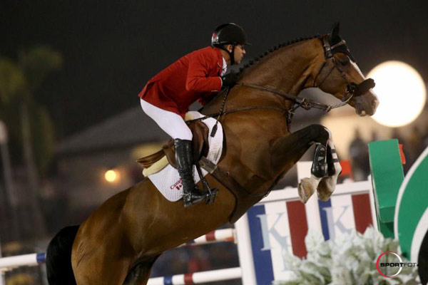 Eric Lamaze (Canada) and Nations Cup debutante Coco Bongo.