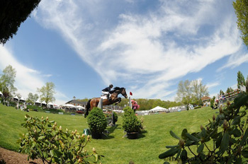 Leading US showjumper Beezie Madden in action at Old Salem Farm.