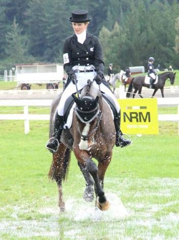 NZ Young Rider team members Bonnie Farrant and Kaipara Dior.