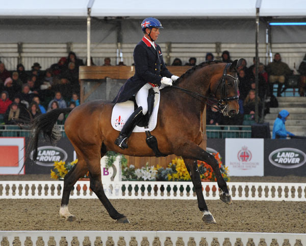 Carl Hester and Nip Tuck during their winning grand prix at Windsor on Thursday.