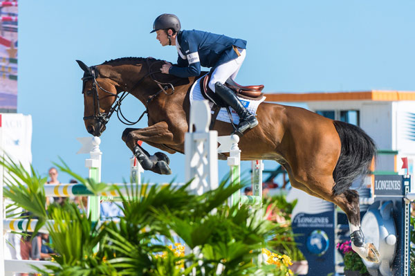 Scott Brash, pictured at the Miami Beach 2015 CSI5* on Hello Sanctos, is back as world Jumping number one at the top of the Longines Rankings.