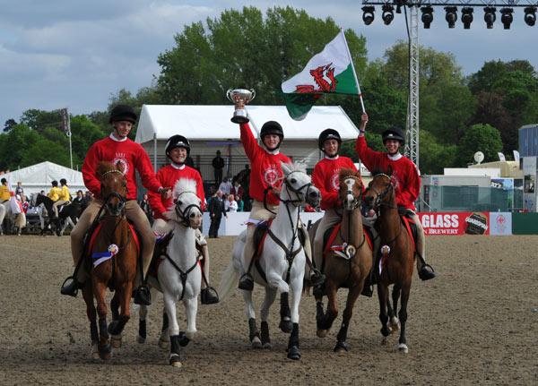 Wales won the Pony Club Mounted Games team competition.