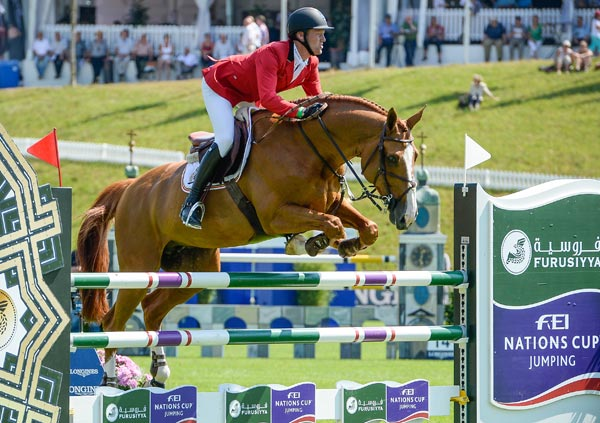 Niels Bruynseels and Pommeau du Heup for winning Belgian team at St Gallen.