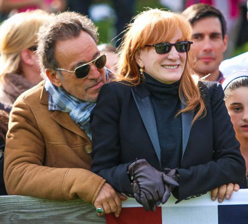 Bruce Springsteen and Patti Scialfa.