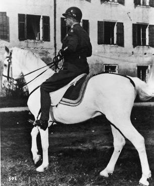 General Patton riding Favory.