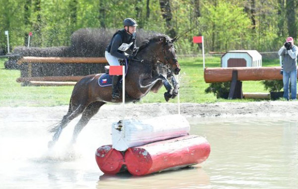 The new water jump at Strzegom, which was built in March.