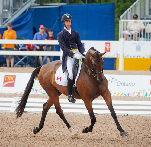 Chris von Martels and Zilverstar were the best placed Canadian combination in the individual dressage competition, winning bronze on Tuesday at the Pan American Games.
