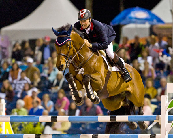 Ian Millar, pictured on In Style, will fly the host nation flag when Jumping gets under way at the Pan-American Games in Caledon Park, Toronto, next week.