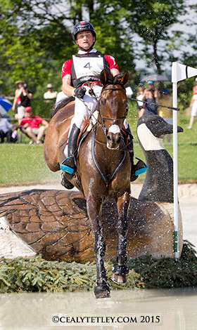 Waylon Roberts riding Bill Owen produced a clear cross-country performance for the Canadian Eventing Team.