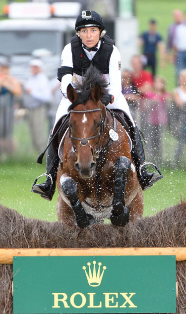 Ingrid Klimke finished second on her team horse, Hale Bob.