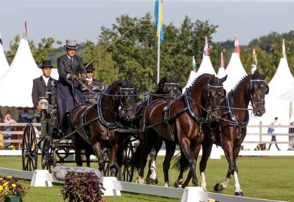 Juan Antonio Real Garcia of Spain is in third place after the dressage phase.