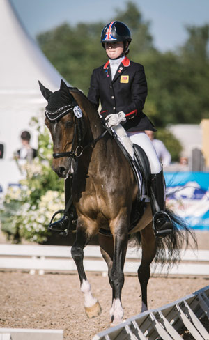 Individual dressage winner Phoebe Peters and Sl Lucci (GBR).