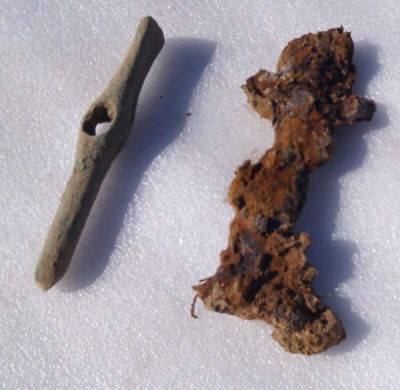 A bronze chisel and iron Scythian sword were found with the warrior.