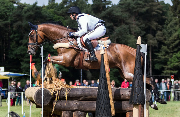 Reigning Olympic and European champion Michael Jung, pictured on La Biosthetique Sam, takes on Burghley for the first time this weekend.