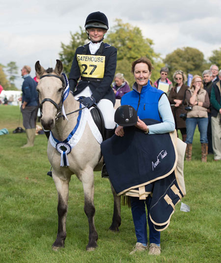 Molly Edwards and Biscuit, with Carol Allison of Gatehouse, after their win in the Gatehouse BE80 Amateur Eventer Dressage Championships.