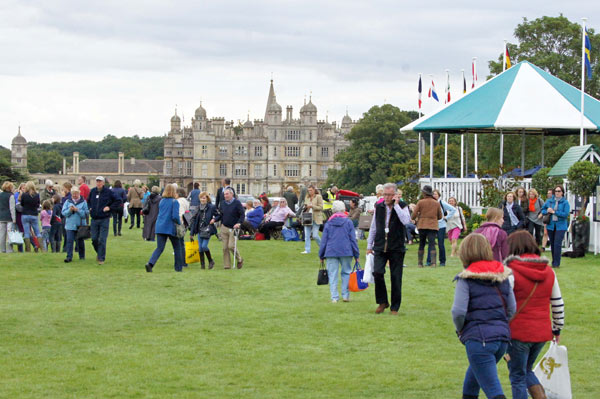 More than 35,000 spectators arrived for the first day of dressage at the Burghley Horse Trials.