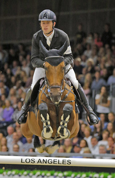 Scott Brash and Hello M'Lady were runners up in the Longines Grand Prix.