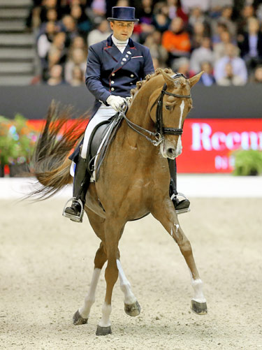 The sole French representative, Pierre Volla, claimed sixth spot with his young mare Badinda Altena.