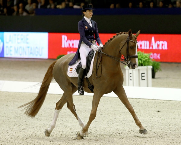 Spain's Beatriz Ferrer-Salat and Delgado registered a convincing victory at the second leg of the Reem Acra FEI World Cup Dressage 2015/2016 Western European League at Lyon, France, on Saturday.