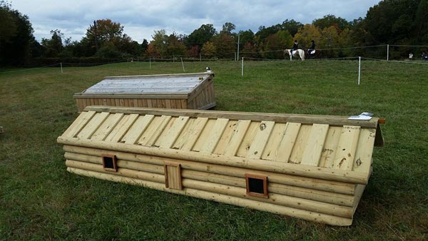 Eric Bull has donated a cabin fence to be auctioned to support the US Eventing Association's Frangible (Collapsible) Fence Study.