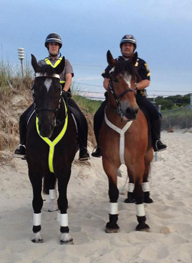 Big John on his first day of work for the Plymouth Police Force, with Tobias, last July.