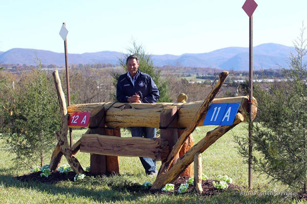 Virginia Horse Trials' Course Designer John Nicholson.