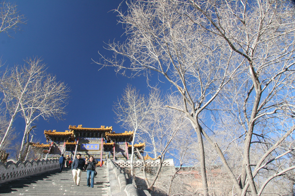 Staircase to the Pusading Temple in Wutai Shan