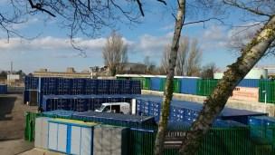 Novartis dismantling viewed from Foundry Lane