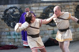 Gladiators at Horsham's Piazza Italia X 2016