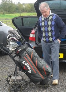 Frank White of Winky Seniors gets his mind in gear for the longest drive
