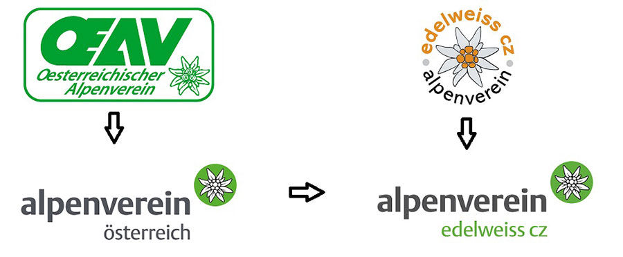 alpenverein nové logo