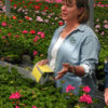 Elizabeth Lamb, ornamental IPM coordinator at NYS IPM Program, worked with GORGES Inc. to develop the Greenhouse Scout app. Photos courtesy of NYS IPM Program