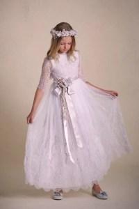 Vestidos de comunión bordados