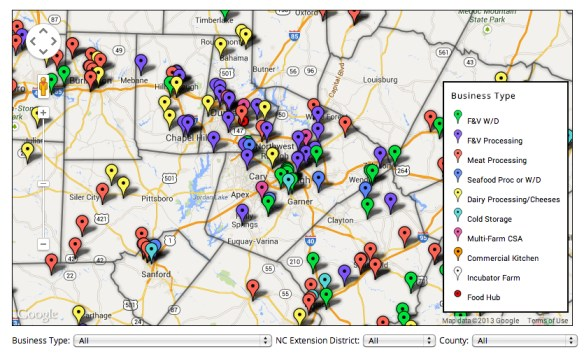 NC Local Food Infrastructure Inventory