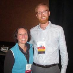 Nick Basinger with Kristen Barnheisel ASE VVith Paper