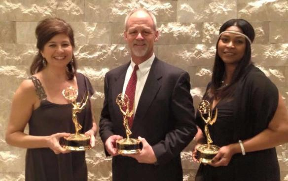 "Simone Keith, Bryce Lane and Sonya Williams Harris received a 2015 EMMY for ""In the Garden with Bryce Lane."""