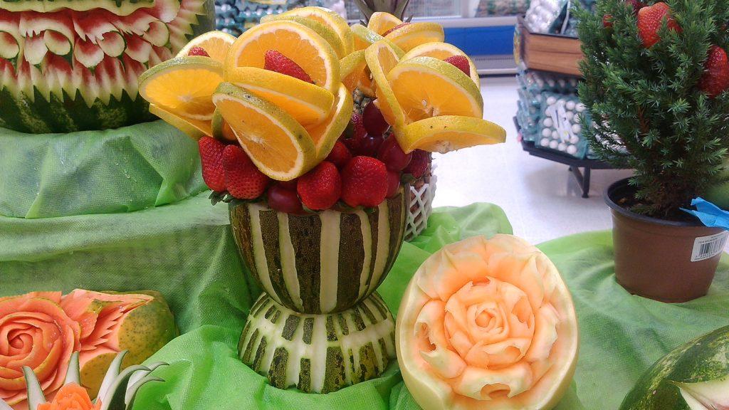 Decoração em Frutas e Legumes
