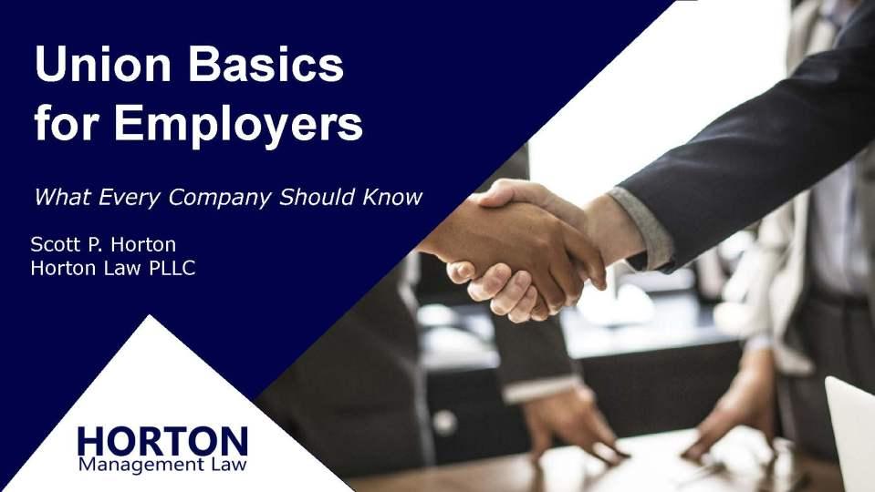 Union Basics for Employers