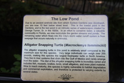 The unique hydrology and geology of Sunken Gardens