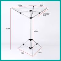Portable Clothes Dryer Airer Foldable Coat Rack Camping ...