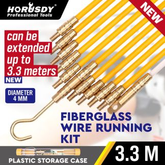 3.3m Fibreglass Electricians Push Pull Rods Cable Cavity Contractors