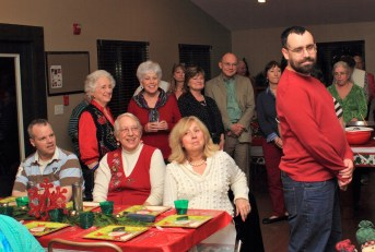 Family and Friends at the Christmas party
