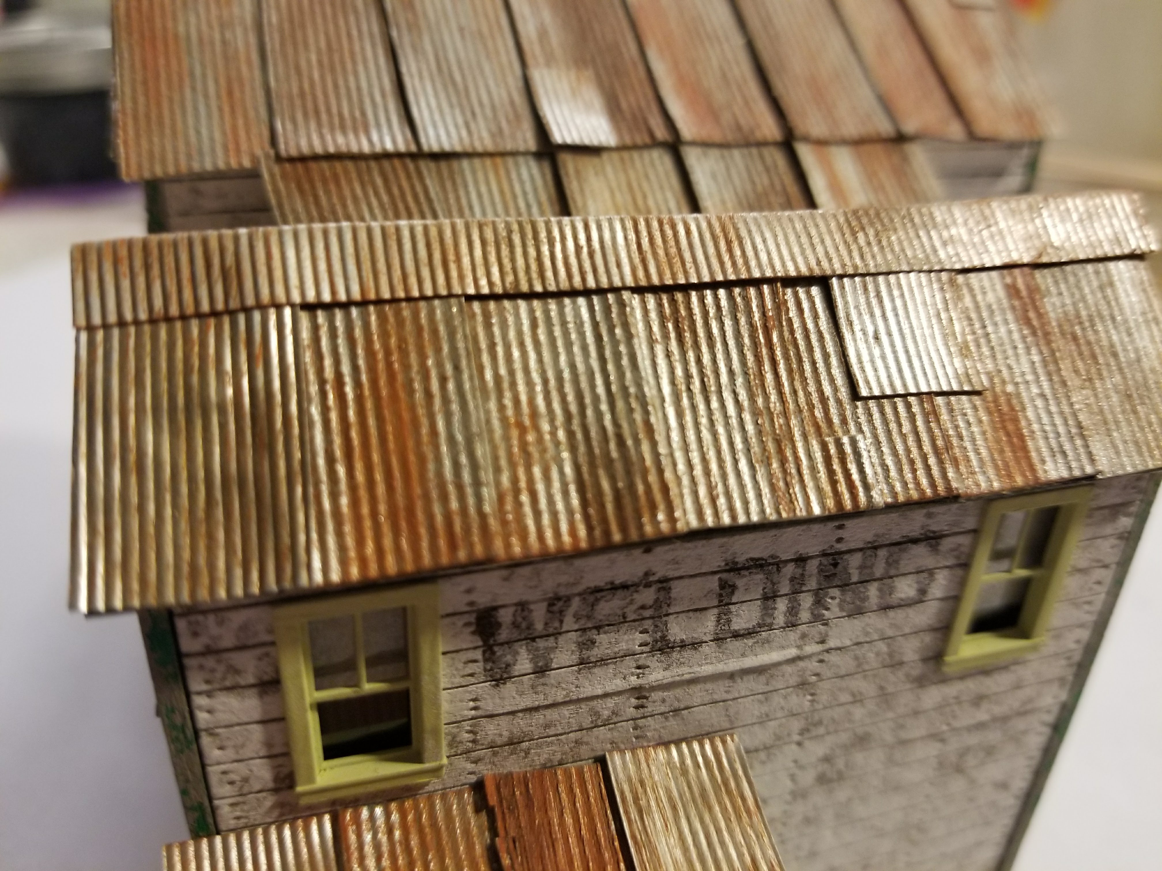 Ho Scale Corrugated Metal Roofing Siding Material From