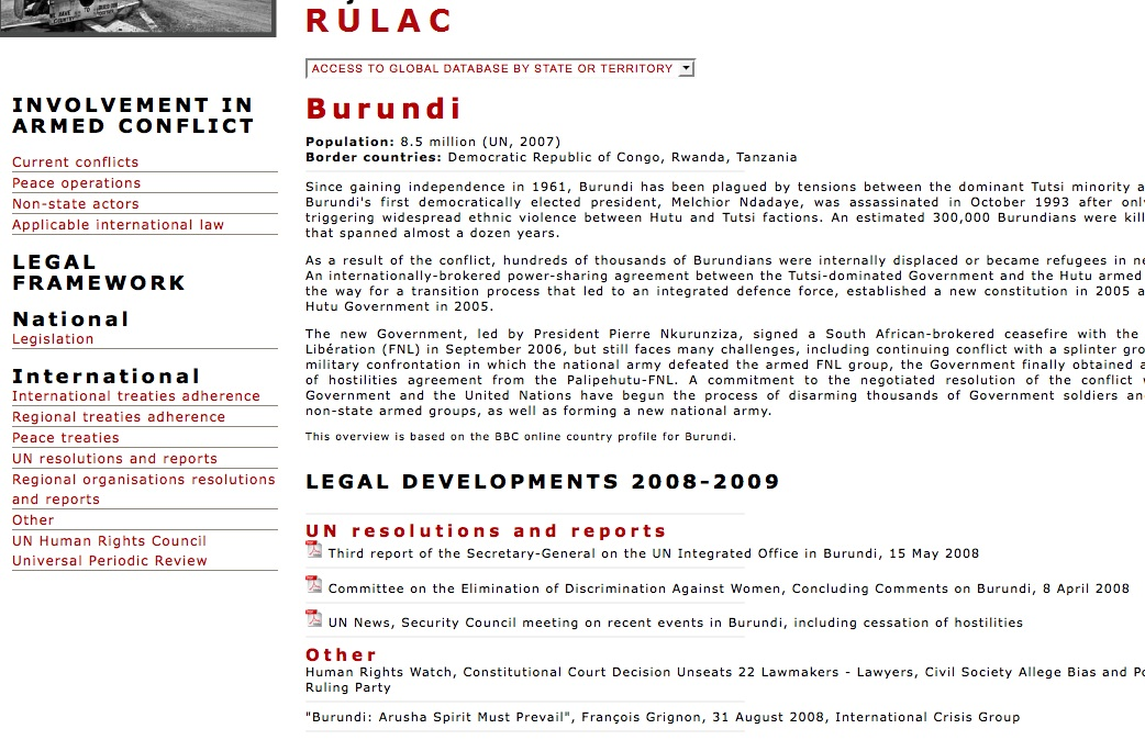 Webpage RULAC