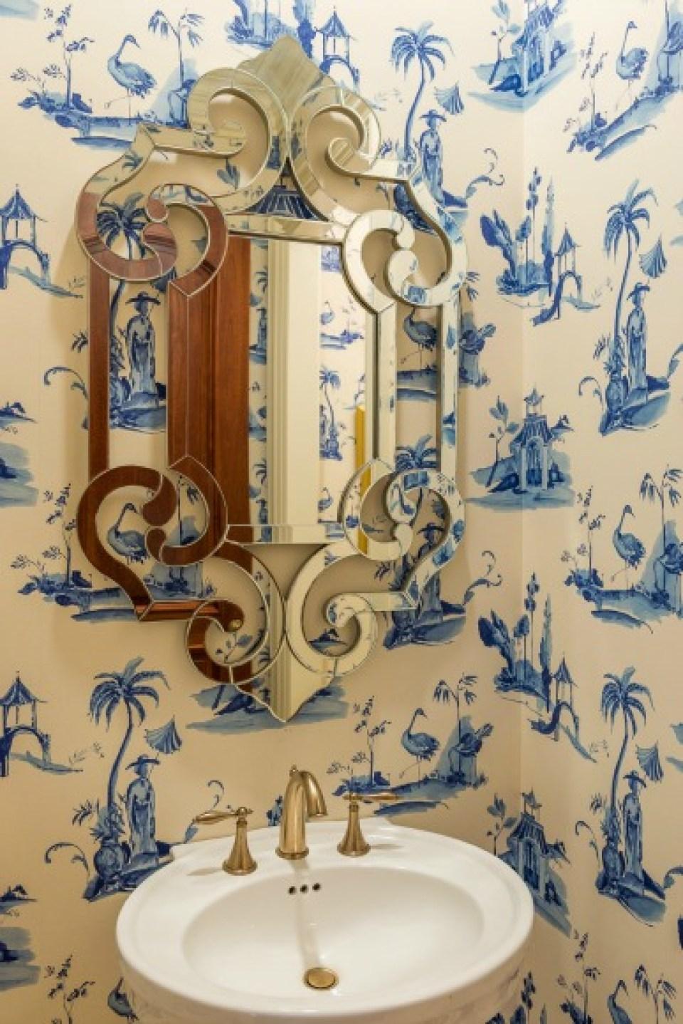 Blue Asian wallpaper