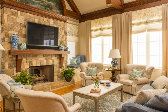 French Country family room design