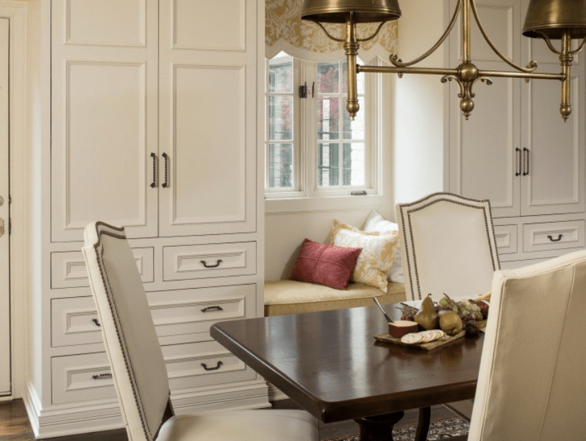 Hoskins-interior-design-Indianapolis-IN-dining-room-white-formal-built-ins-window-seat-traditional
