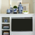 Built-in Shelves and TV