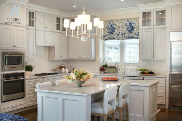 White Kitchen With Island